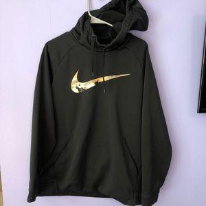 Nike dri-fit camo hoodie